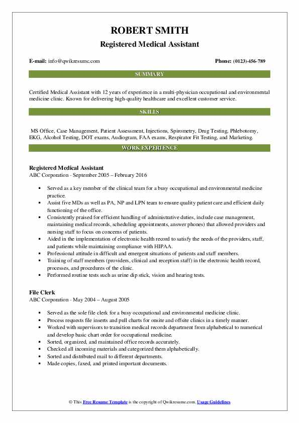 medical assistant resume samples qwikresume template pdf curriculum vitae vs android Resume Medical Assistant Resume Template