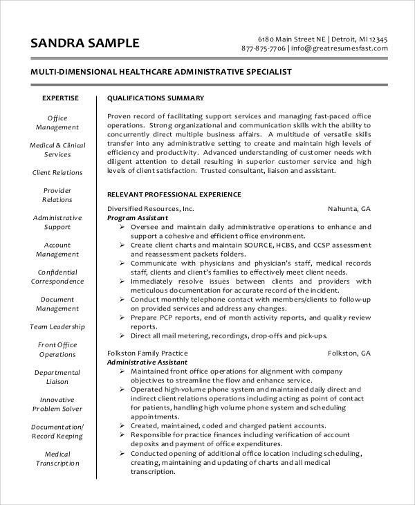 medical assistant skills for resume stunning sample administrative summary office tour Resume Medical Office Assistant Skills Resume