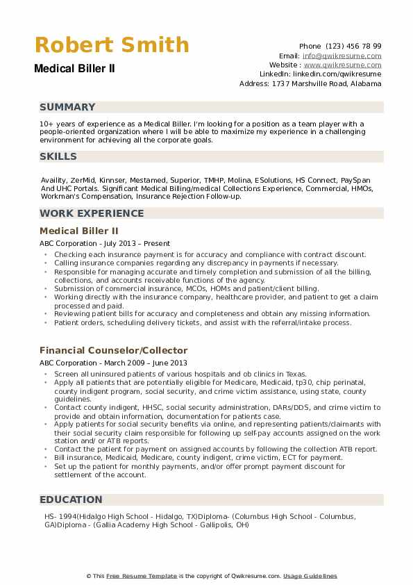 medical biller resume samples qwikresume sample for billing and coding pdf good words Resume Sample Resume For Medical Billing And Coding