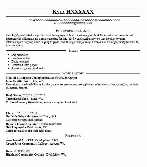 medical billing and coding specialist resume example livecareer entry level sample Resume Entry Level Medical Billing And Coding Resume Sample