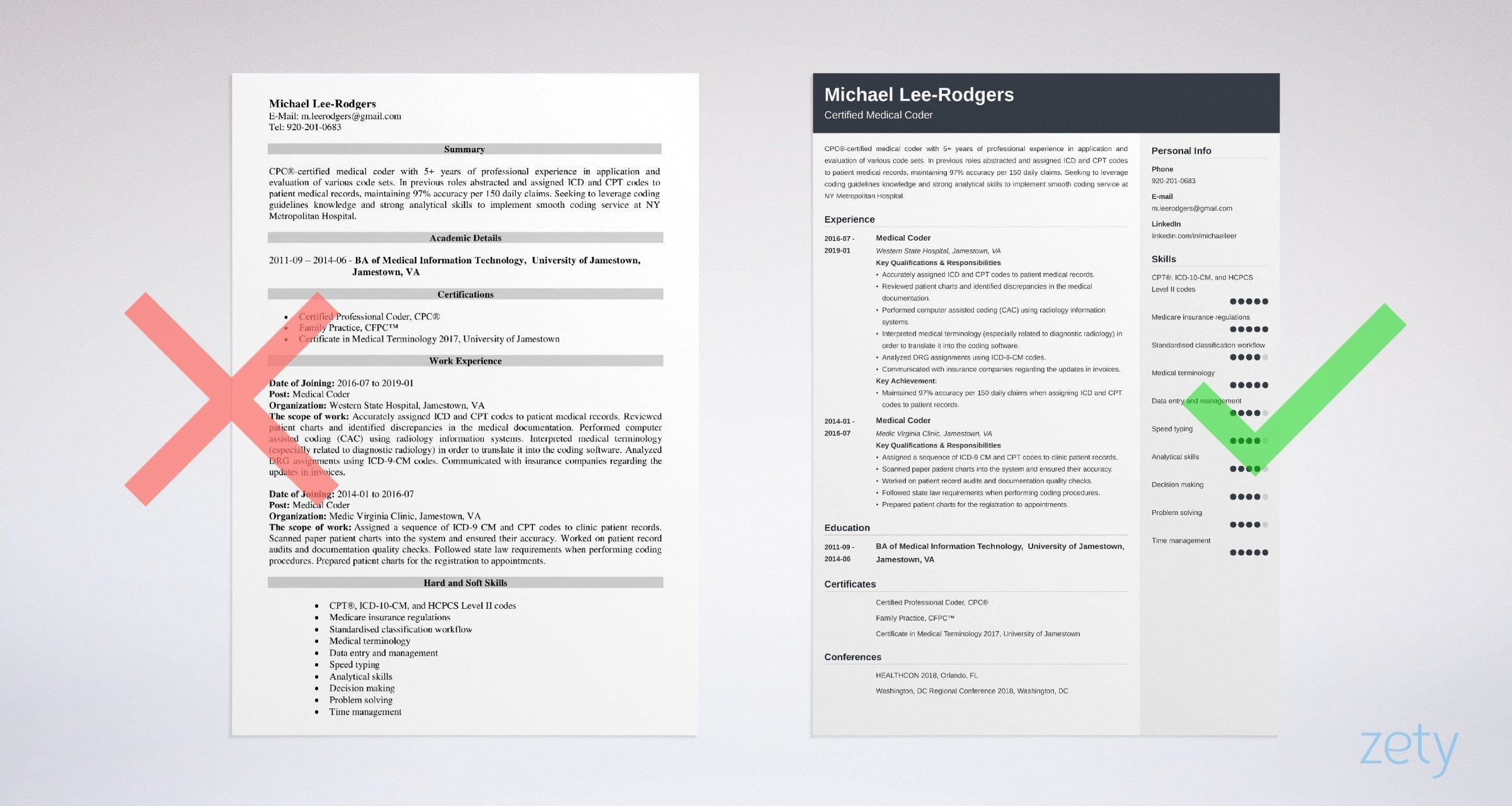 medical coder resume sample guide tips coding examples example gabrielle carrubba school Resume Medical Coding Resume Examples