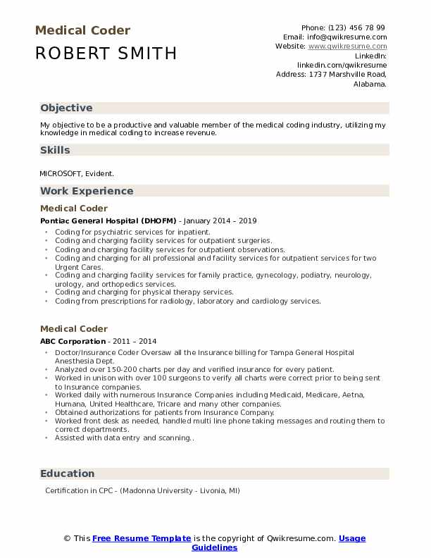medical coder resume samples qwikresume sample for billing and coding pdf business job Resume Sample Resume For Medical Billing And Coding