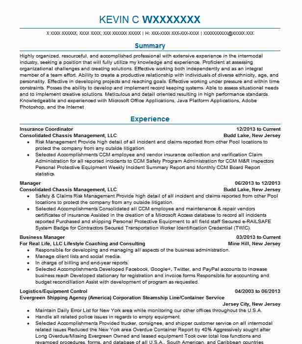 medical insurance coordinator resume example phenix city spine and joint center job Resume Insurance Coordinator Job Description For Resume