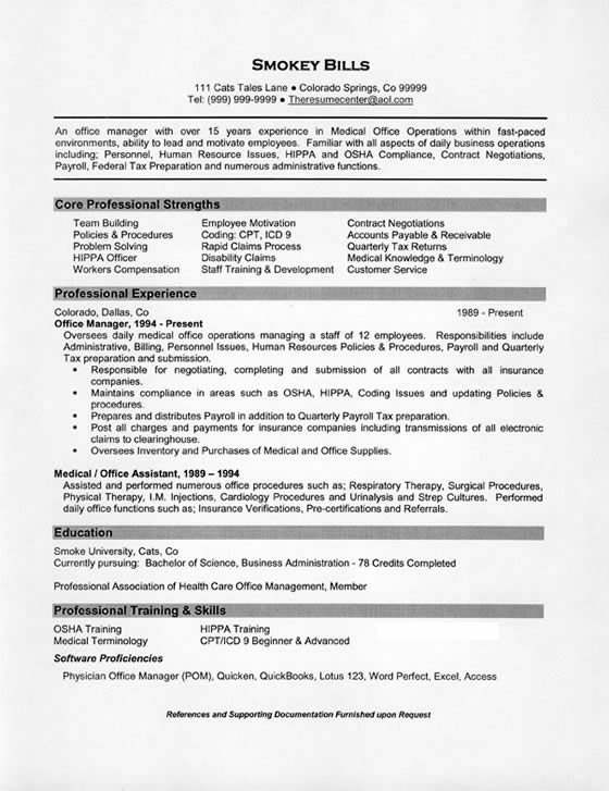 medical office manager resume example sample manager7 lift technician model objective for Resume Office Manager Resume Example