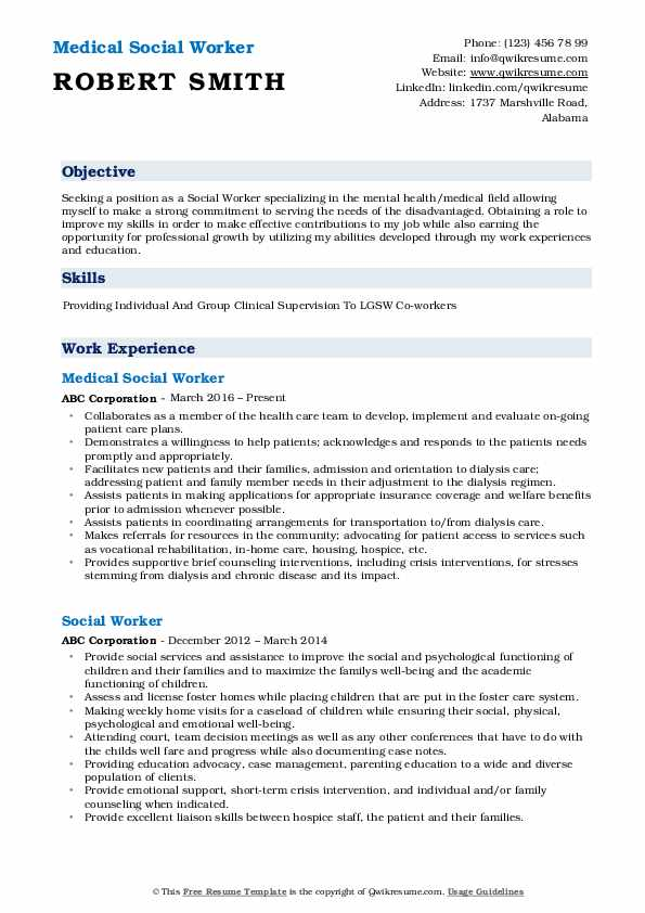 medical social worker resume samples qwikresume pdf objective for assistant example free Resume Medical Social Worker Resume