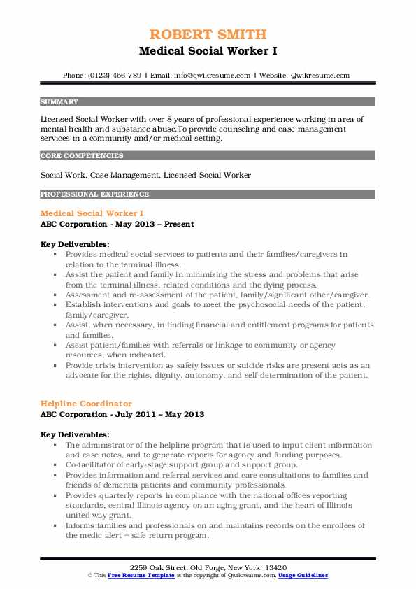 medical social worker resume samples qwikresume pdf templates for microsoft word with Resume Medical Social Worker Resume