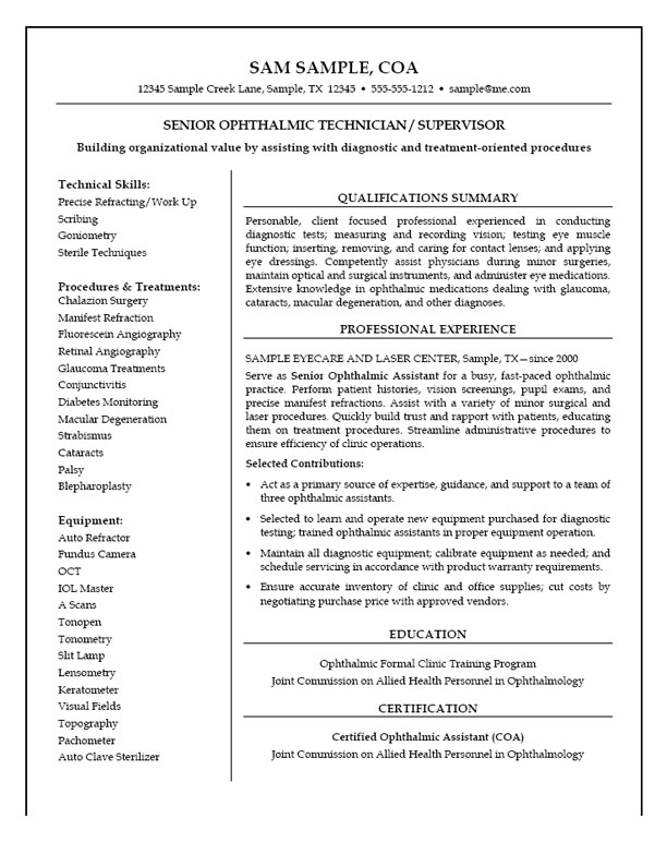 medical technician resume example professional writers exmed22 with little experience Resume Professional Medical Resume Writers