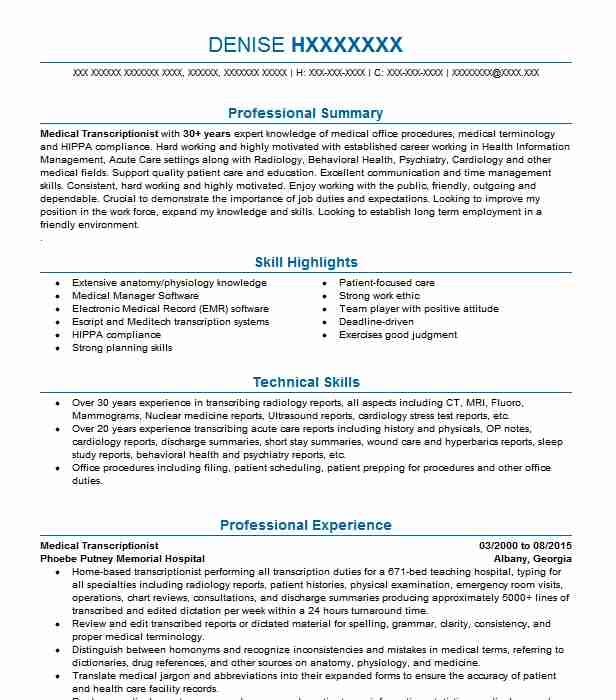 medical transcriptionist editor independent contractor resume example ldmts transcription Resume Legal Transcriptionist Resume