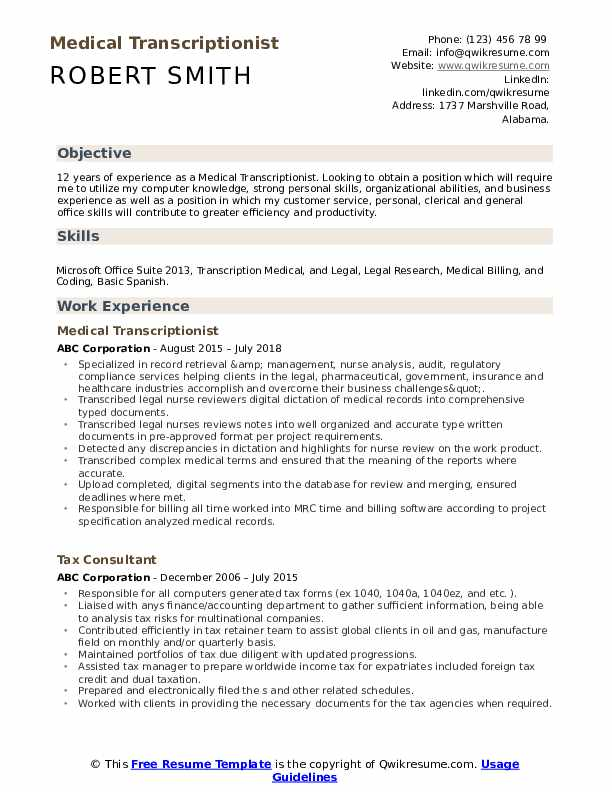 medical transcriptionist resume samples qwikresume legal pdf hedge fund another word for Resume Legal Transcriptionist Resume