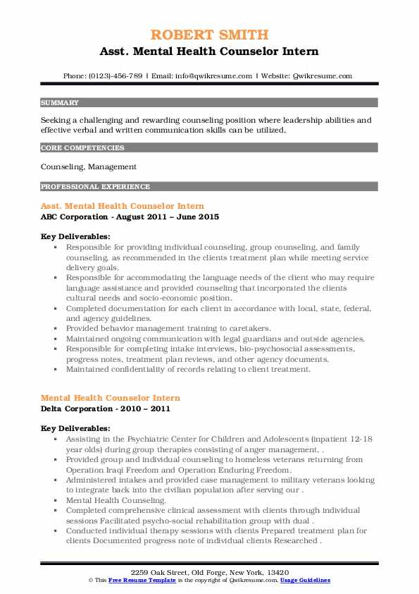 mental health counselor intern resume samples qwikresume pdf entry level assistant buyer Resume Mental Health Counselor Resume