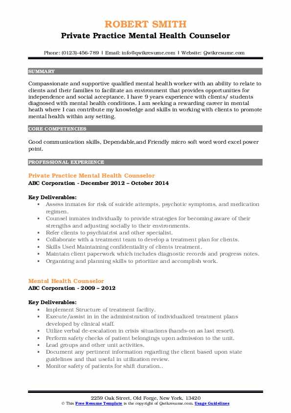 mental health counselor resume samples qwikresume pdf openstack experience for writing Resume Mental Health Counselor Resume