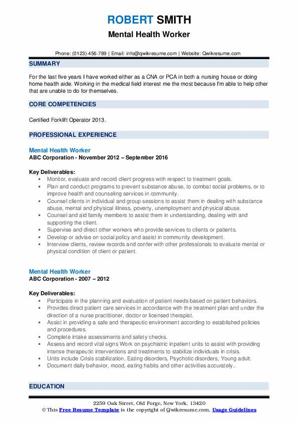 mental health worker resume samples qwikresume objective for pdf telephone interviewer Resume Objective For Mental Health Resume