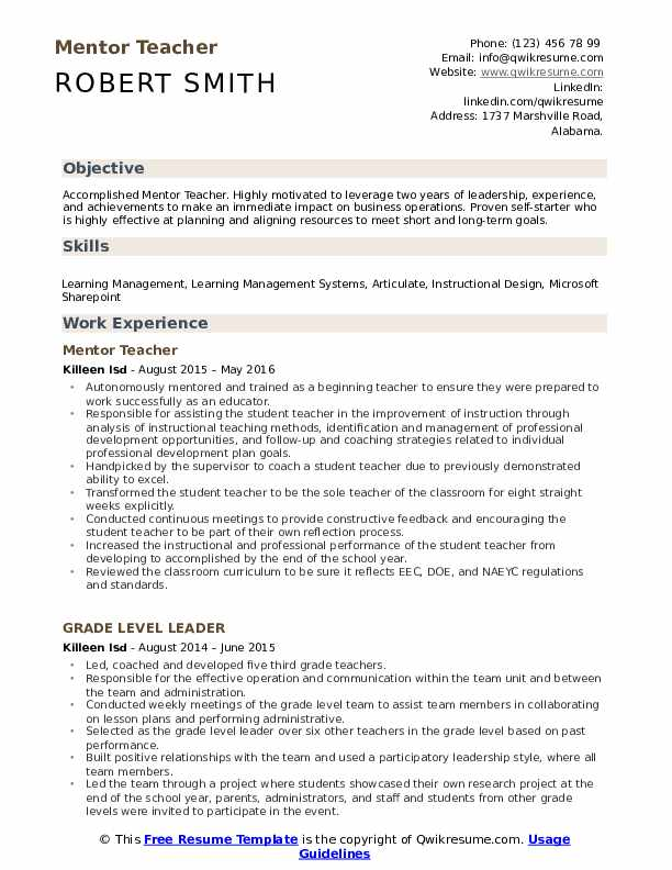 mentor teacher resume samples qwikresume achievements of pdf experienced private equity Resume Achievements Of A Teacher Resume