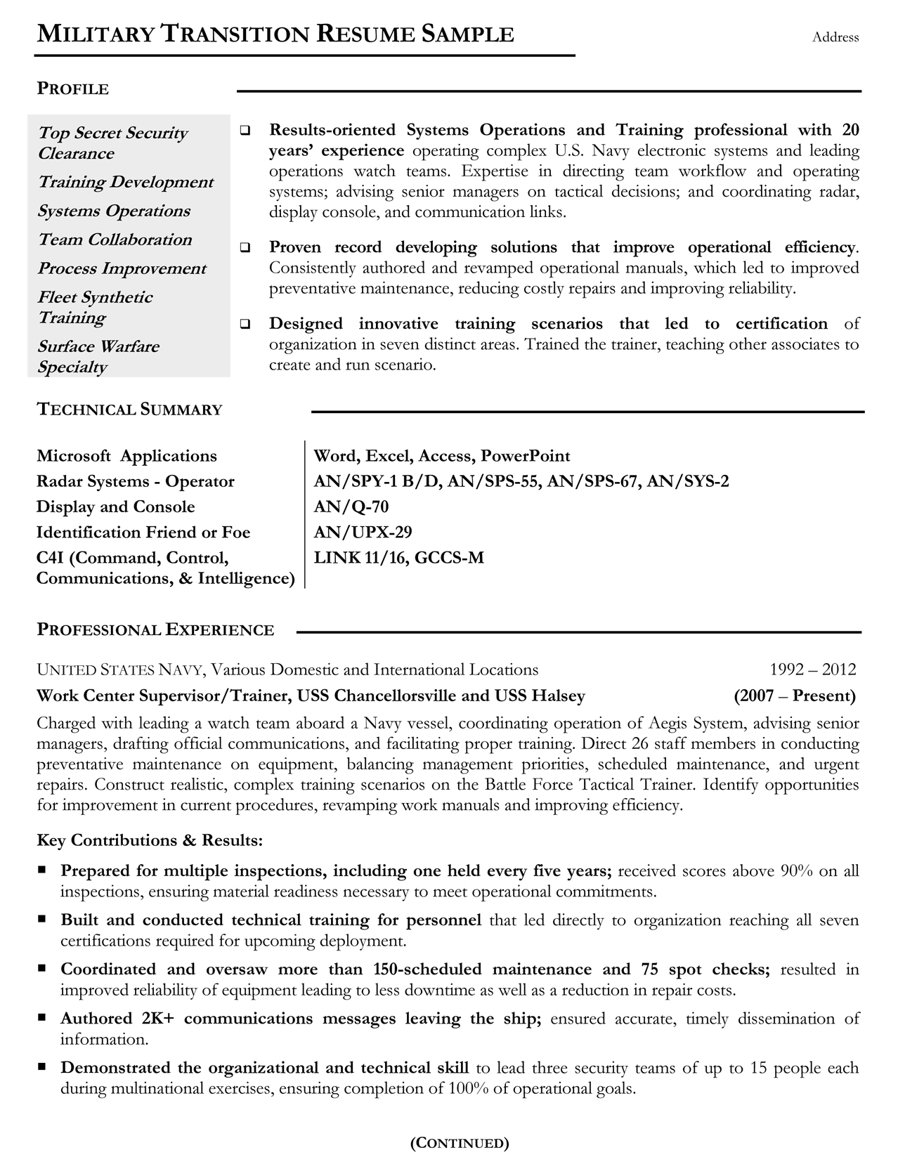 military resume samples examples writers ses ecq example mtr sample icon pack truck Resume Ses Ecq Resume Example