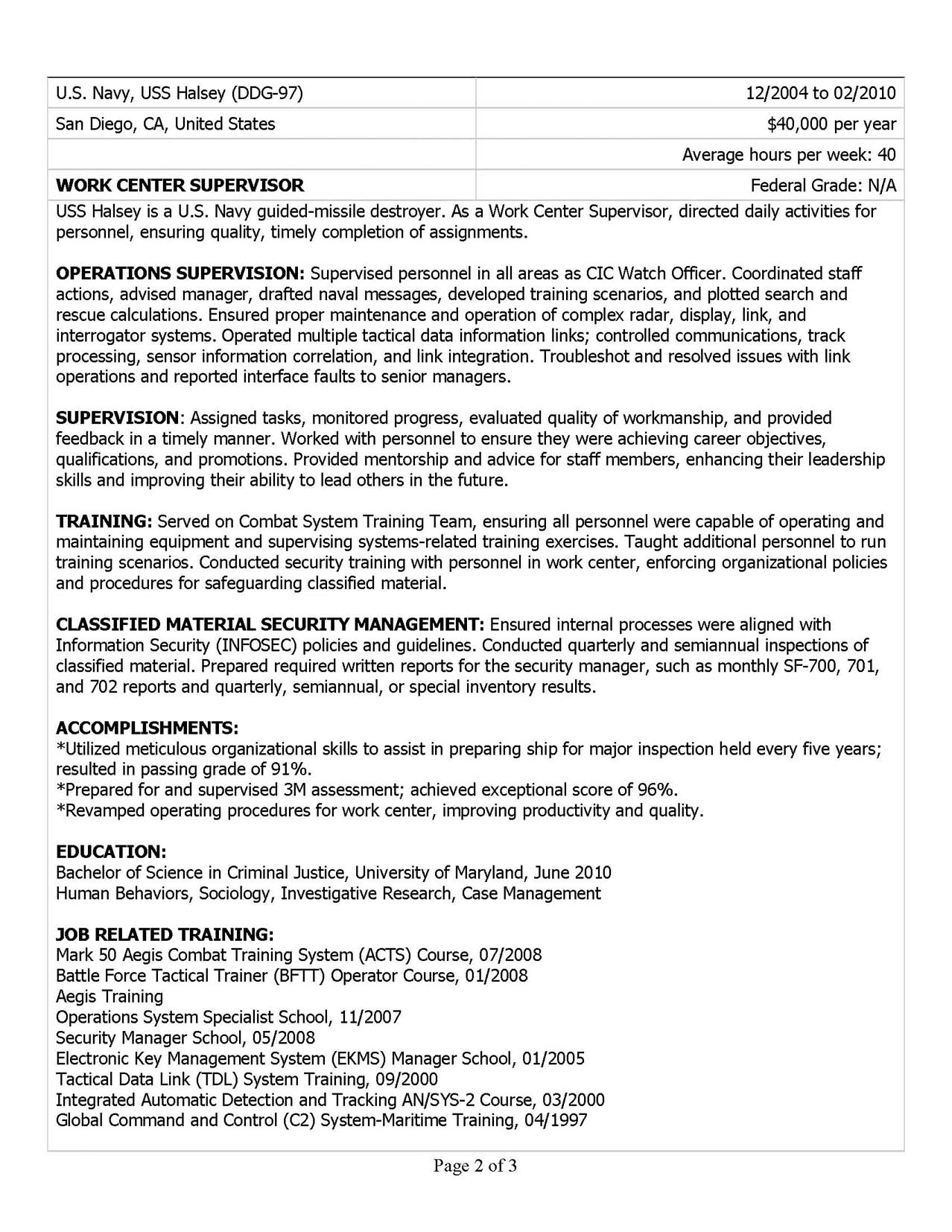 military resume samples examples writers ses ecq example usajobs sample medical insurance Resume Ses Ecq Resume Example