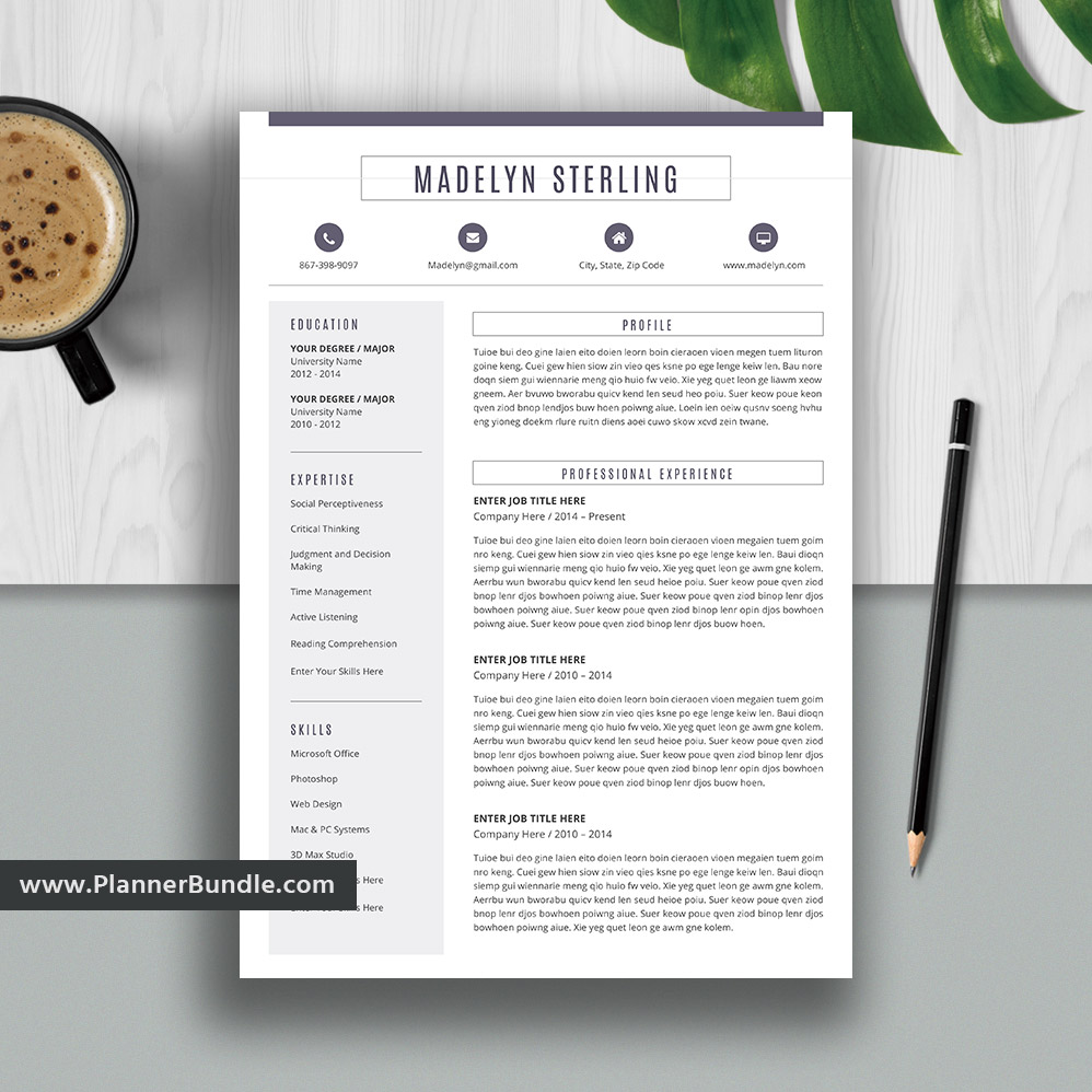 modern and unique resume template for ms word cv professional design college students Resume Professional Resume Template 2020