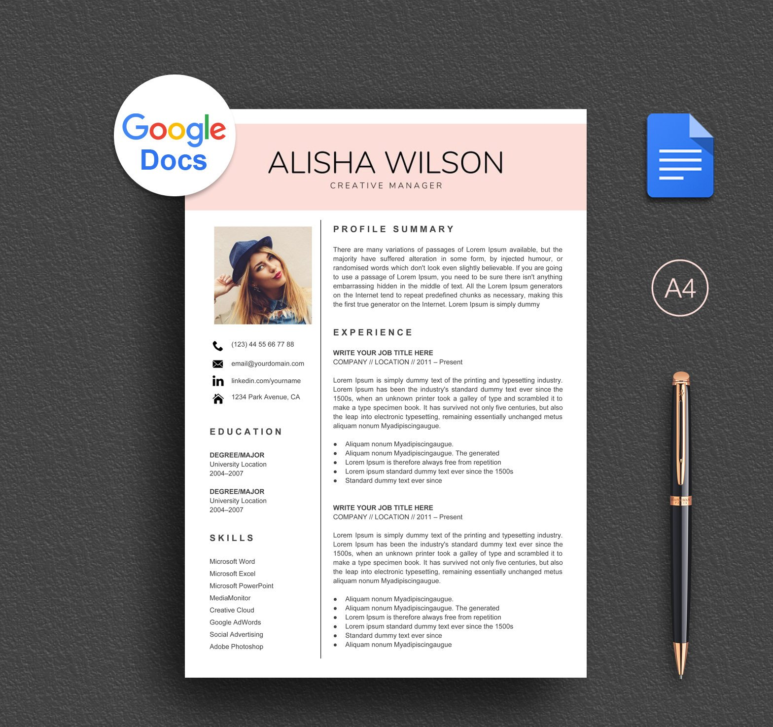 modern google docs resume template market cv instant free and cover letter examples for Resume Free Resume Template Google Docs Download
