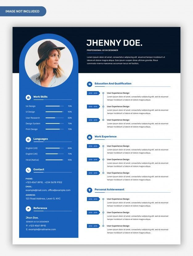 modern professional creative resume template with photo in templates and administrative Resume Professional And Creative Resume Templates