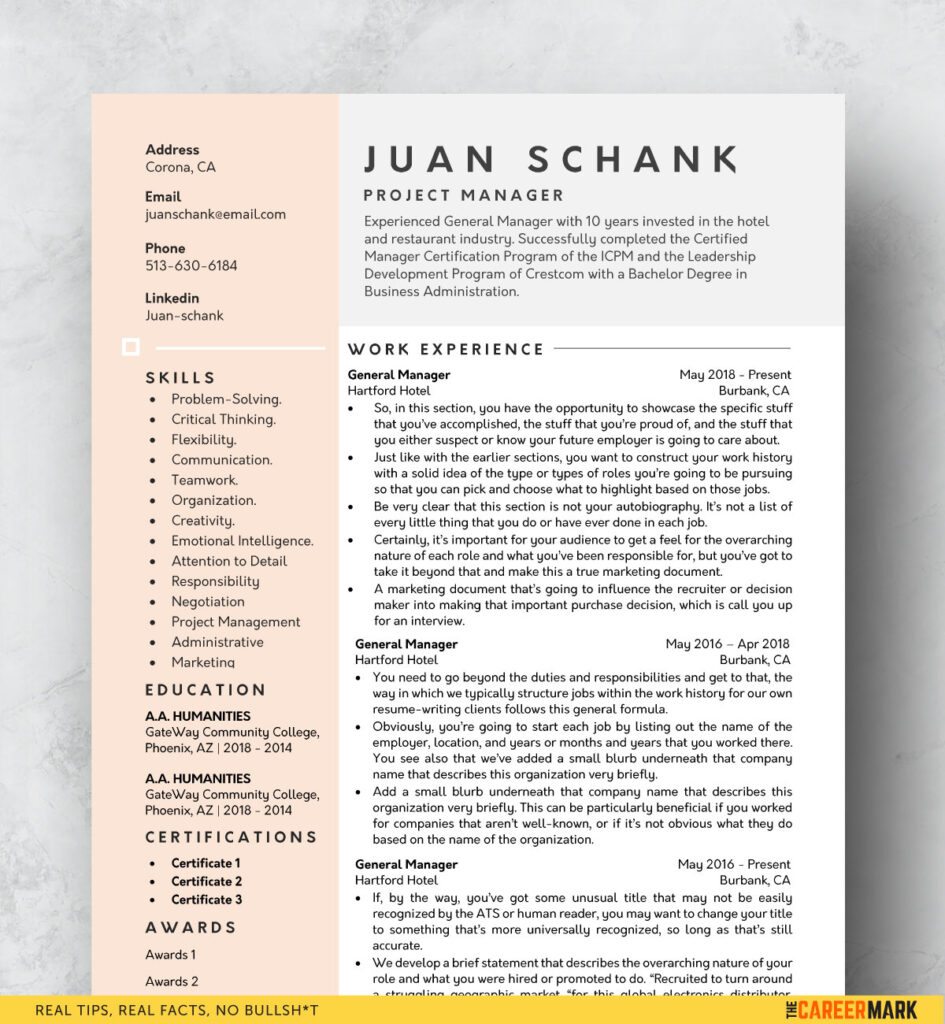 modern resume template free the career mark templates 945x1024 best receptionist human Resume Free Resume Templates 2020 Download