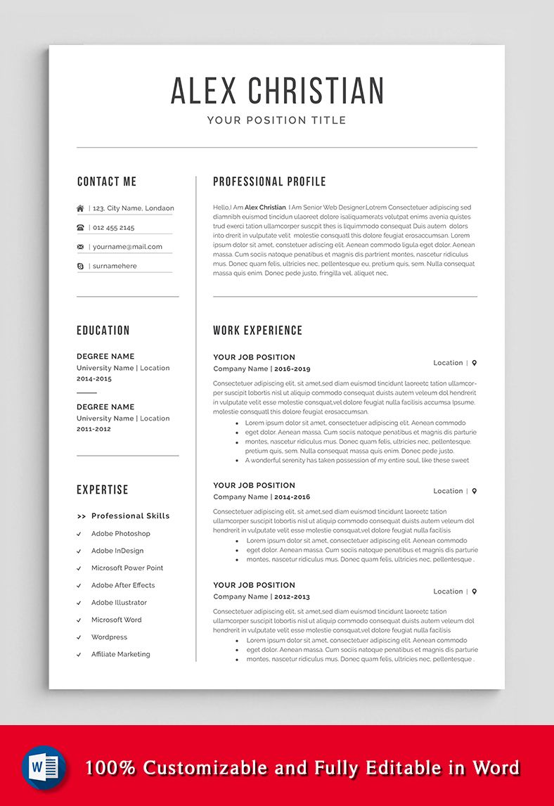 modern resume template professional etsy in words cover letter for get made summary data Resume Get Professional Resume Made