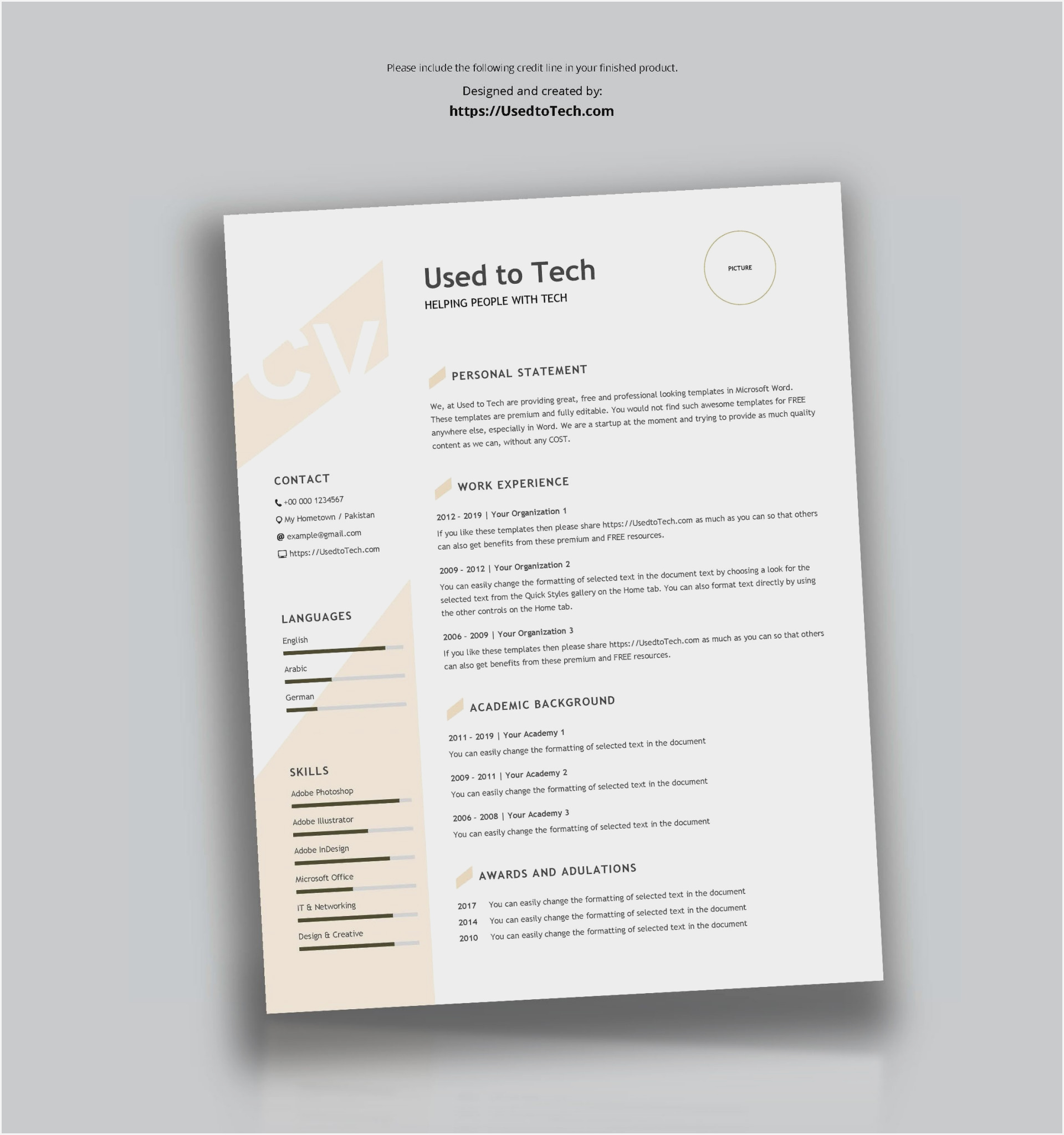 modern resume templates free pdf sample summary vs cover letter excellent organizational Resume Resume Templates Free Download Pdf