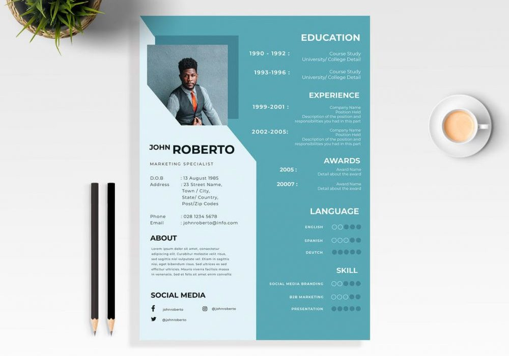 modern word resume template free maxresumes 1000x700 enterprise management trainee intern Resume Word Resume Template 2020