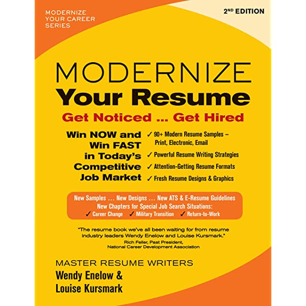 modernize your resume get noticed hired career enelow wendy kursmark louise books to Resume Resume To Get Hired
