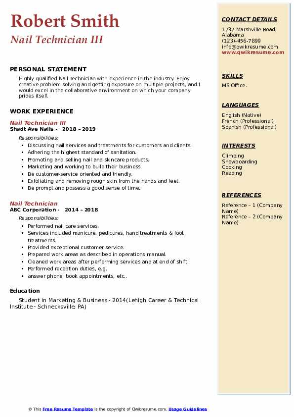 nail technician resume samples qwikresume self employed pdf film production microsoft Resume Self Employed Nail Technician Resume