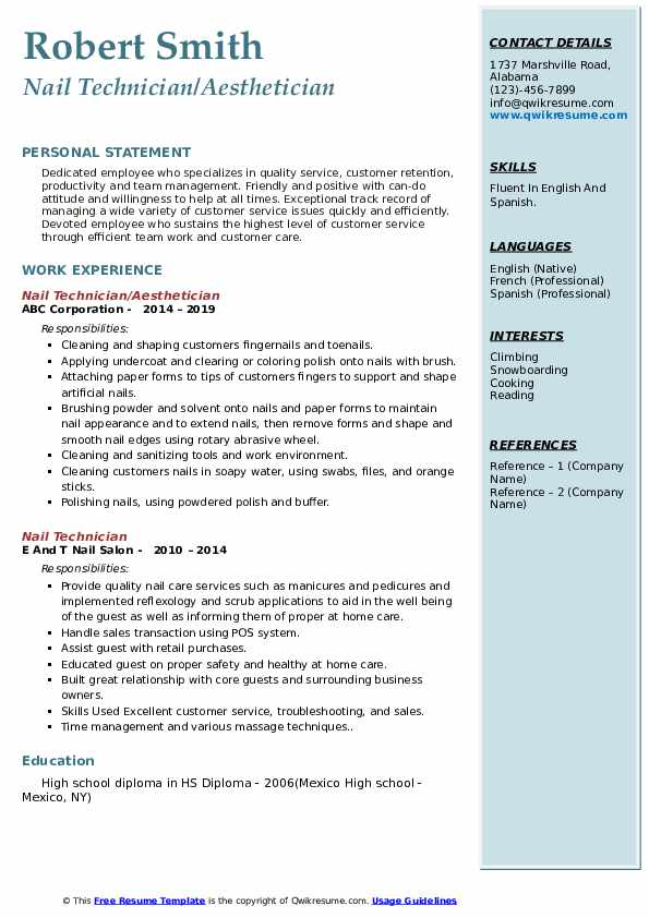 nail technician resume samples qwikresume self employed pdf microsoft templates words Resume Self Employed Nail Technician Resume