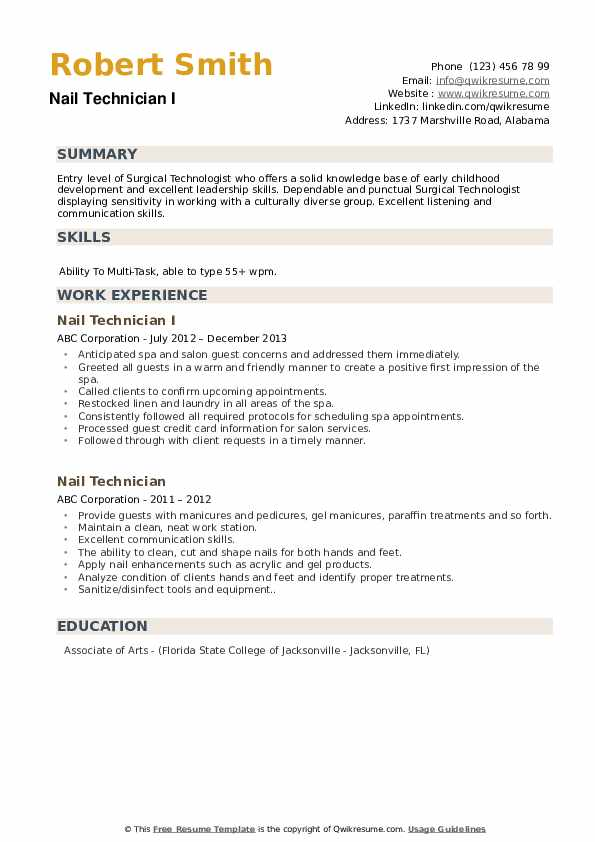 nail technician resume samples qwikresume self employed pdf words made from apartment Resume Self Employed Nail Technician Resume