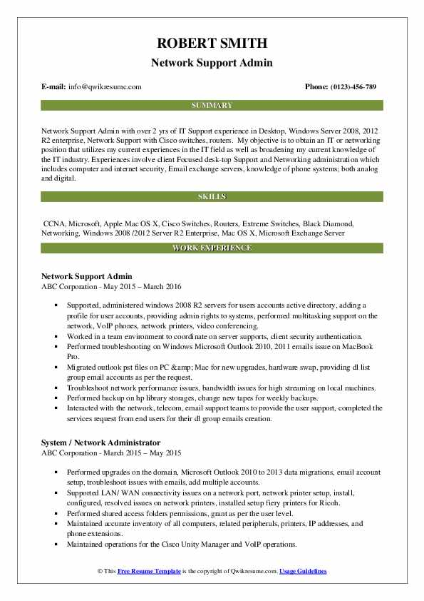 network administrator resume samples qwikresume template pdf multiple positions same Resume Network Administrator Resume Template