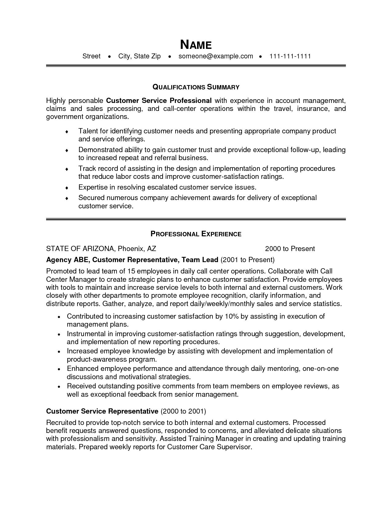 new customer service resume summary examples template statement best fonts hospitality Resume Resume Summary Statement Examples