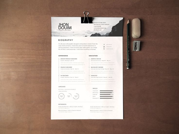 new fashion resume cv templates for free web resources template design photographer Resume Photographer Resume Template Free