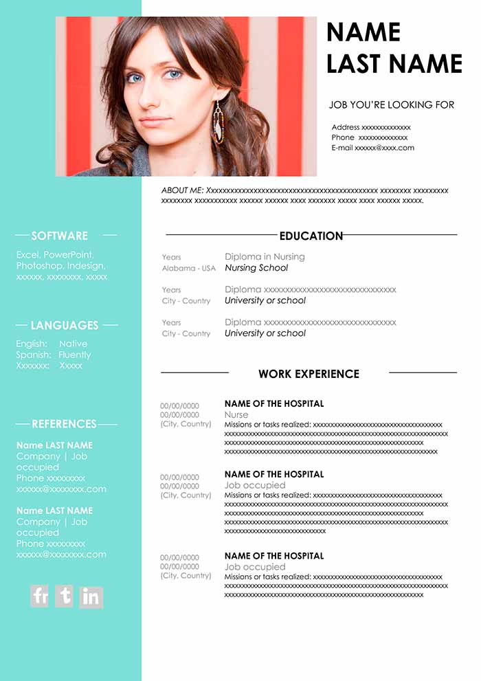 nursing resume template free in word cv samples templates examples of good skills for Resume Free Nursing Resume Templates