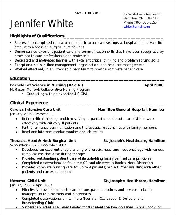 nursing student resume example free word pdf documents premium templates school for with Resume Nursing School Student Resume