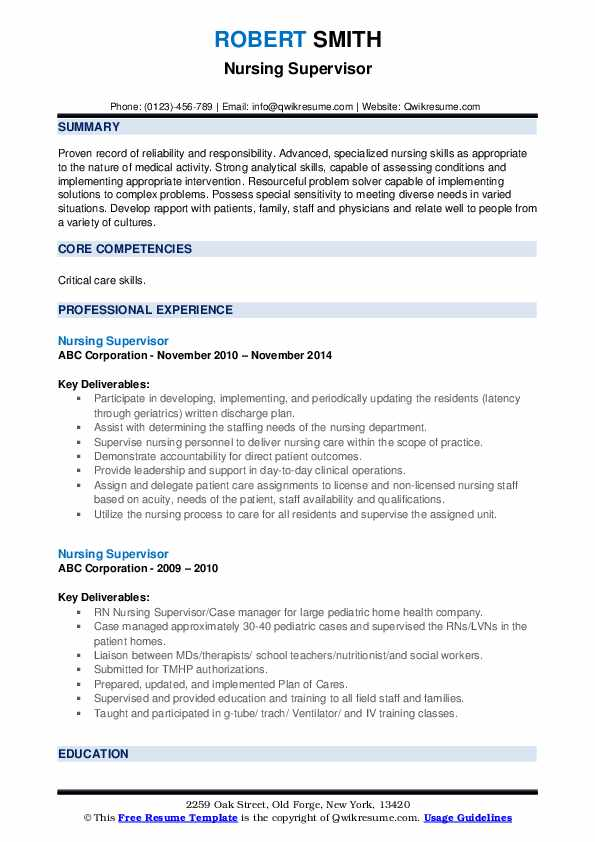 nursing supervisor resume samples qwikresume duties for pdf assistant editor example Resume Nursing Duties For Resume