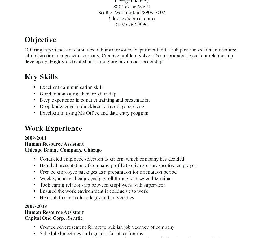 objective resume sample human resources for objectives job samples statement examples Resume Basic Objective For Resume