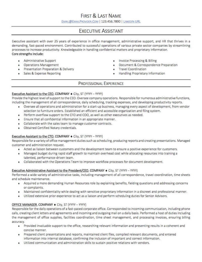 office administrative assistant resume sample professional examples topresume best Resume Best Executive Assistant Resume