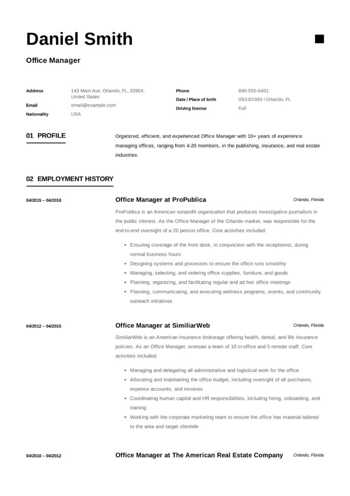 office manager resume samples ideas examples template difference between headline and Resume Office Manager Resume Template