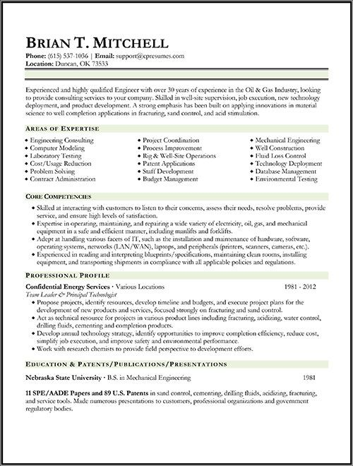 oil gas engineer resume sample engineering civil examples completion expected graduation Resume Completion Engineer Resume