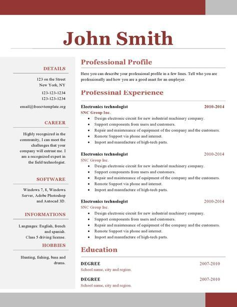 one resume template free downloadable single examples accounts manager format spring Resume Single Page Resume Examples