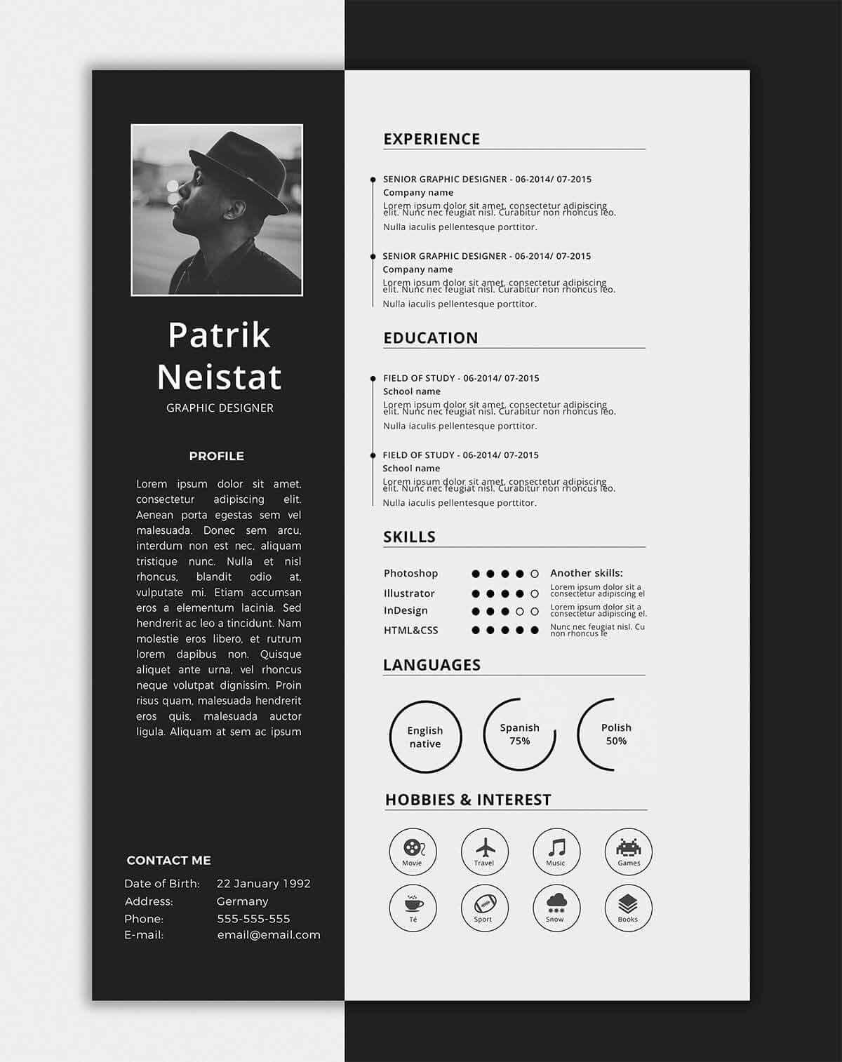 one resume templates examples of format best template skills for case manager Resume Best One Page Resume Template