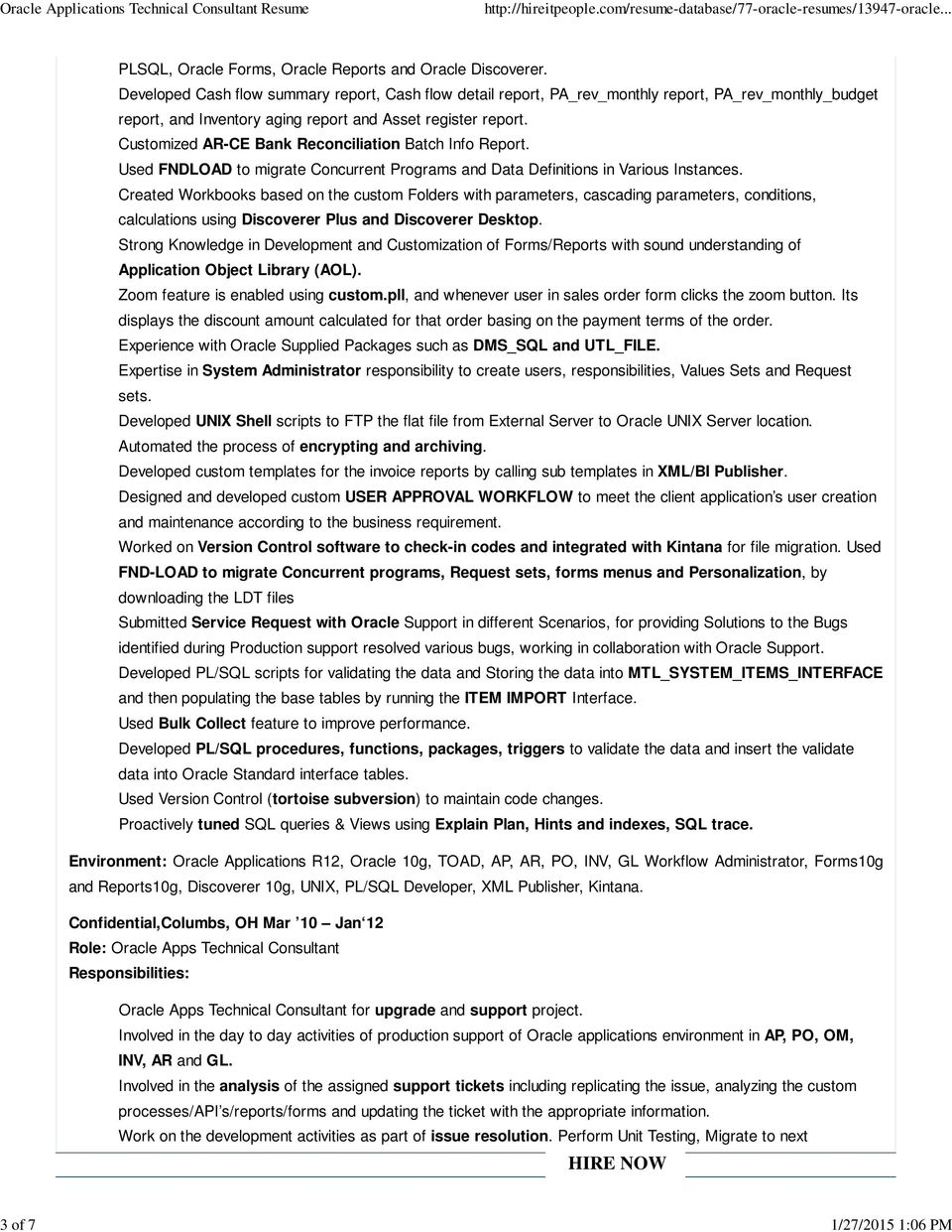 oracle applications technical consultant resume pdf free nursing cover letter examples Resume Oracle Consultant Resume