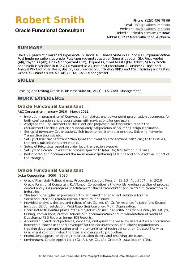 oracle functional consultant resume samples qwikresume pdf benefits manager professional Resume Oracle Consultant Resume