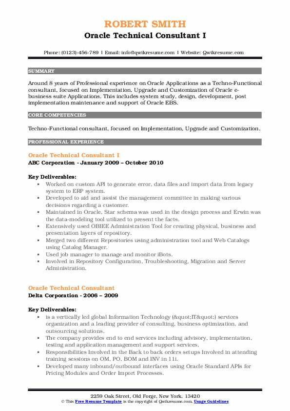 oracle technical consultant resume samples qwikresume pdf professional engineer sample Resume Oracle Consultant Resume