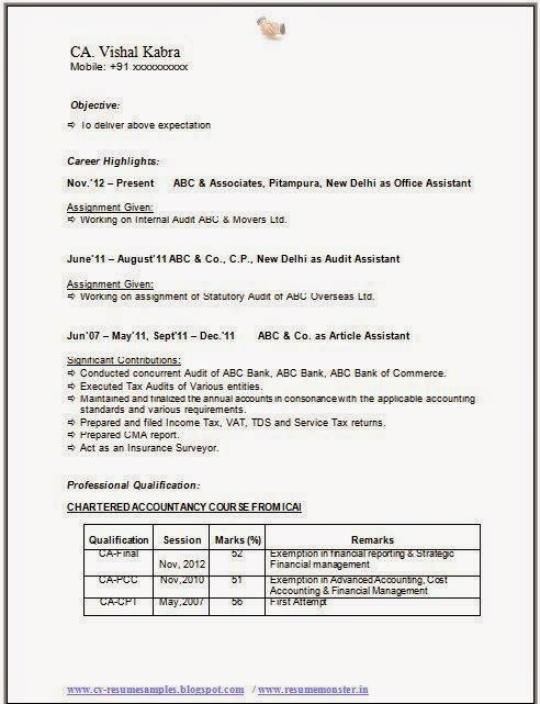 over cv and resume samples with free best chartered accountant sample article assistant Resume Article Assistant Resume