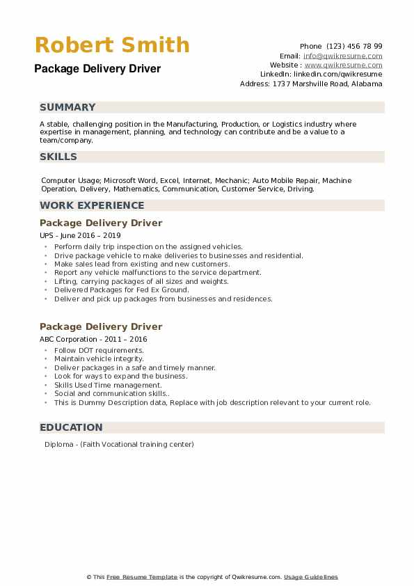 package delivery driver resume samples qwikresume another word for pdf good quality Resume Another Word For Delivery Driver For Resume