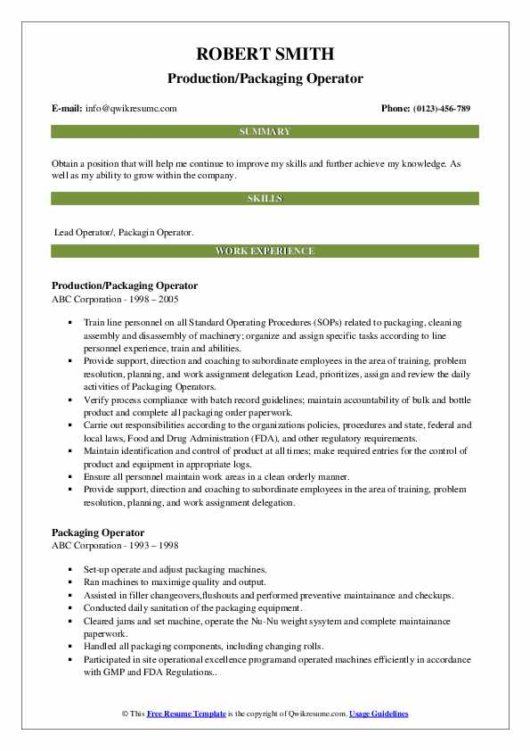 packaging operator resume samples qwikresume pdf experienced bookkeeper free search for Resume Packaging Operator Resume