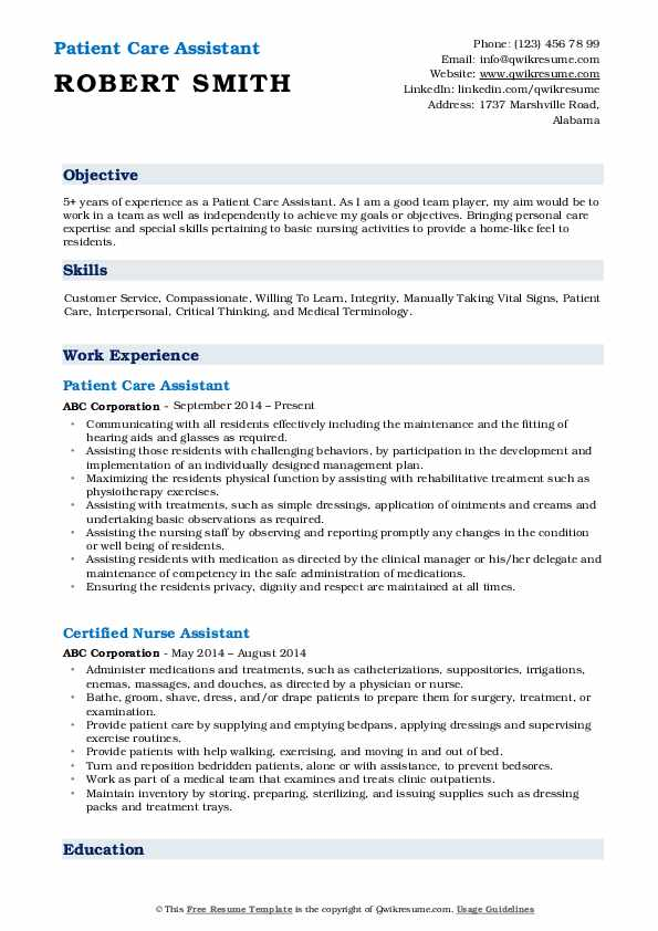 patient care assistant resume samples qwikresume pdf examples for restaurant hostess Resume Patient Care Assistant Resume
