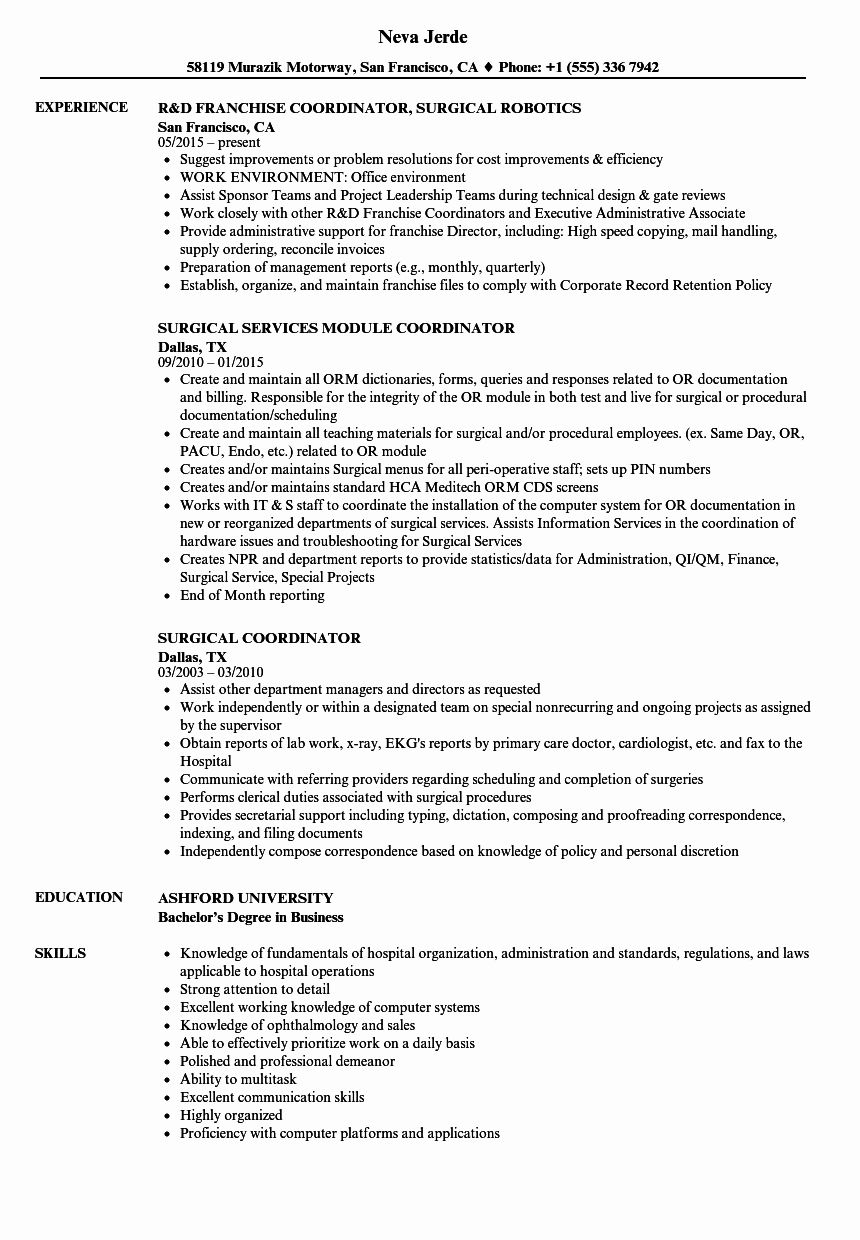 patient care coordinator job description resume new surgical samples loss prevention Resume Patient Coordinator Resume